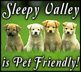 Sleepy Valley Resort is Pet Friendly